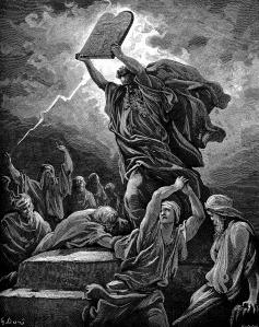 Gustave Doré, Moïse brisant les Tables de la loi