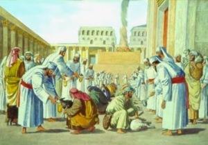 sacrificio del cordero en el templo